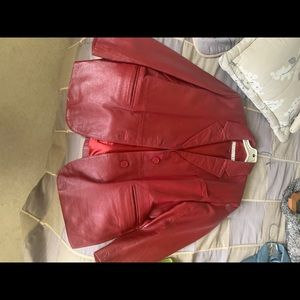 Red Leather Jacket 14P